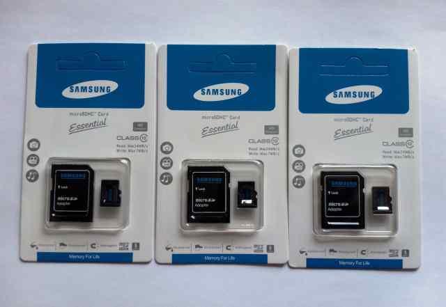 MicroSD карты Samsung 16.32.64Гб Class 10