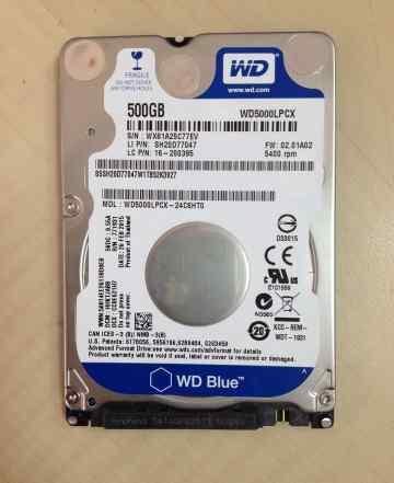 HDD WD WD5000lpcx 500 Гб 2.5