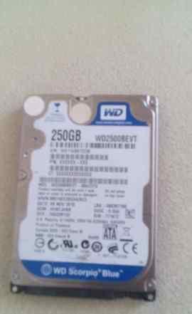 WD 250gb SATA для ноутбука