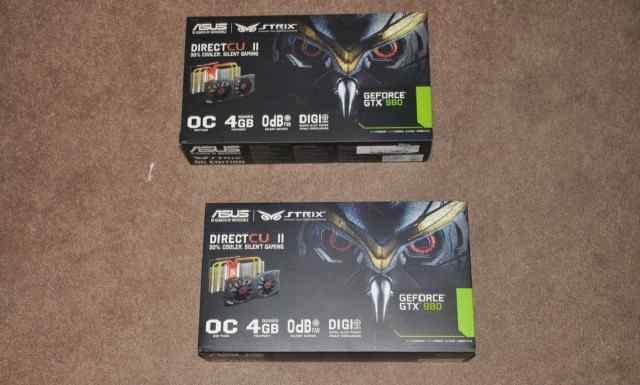 Asus NVidia GeForce GTX 980 все новые, не открывал