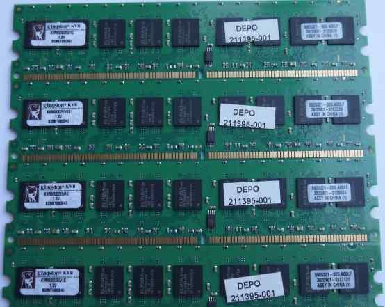 DDR2 1gb Kingston KVR800D2E5/1G 4x1gb