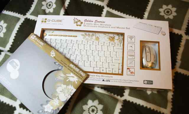 G-Cube Golden Sunrise Клавиатура + Мышь + Коврик