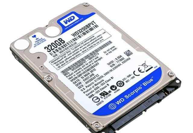 HDD 2.5 320Гб WD WD3200bpvt SATA 3 для ноутбуков