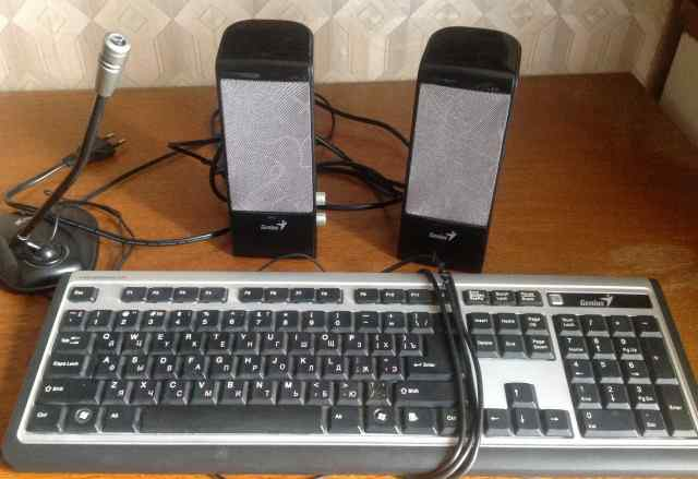 Genius клавиатура, колонки, микрофон
