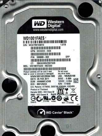 Western digital WD1001faes 1TB black