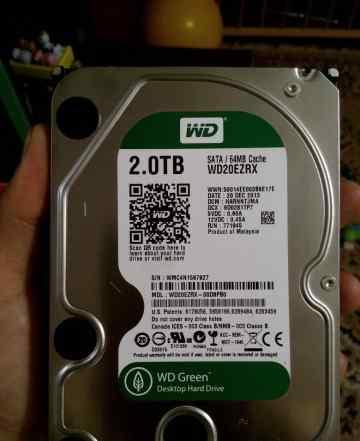 Жёсткий диск WD green 2tb