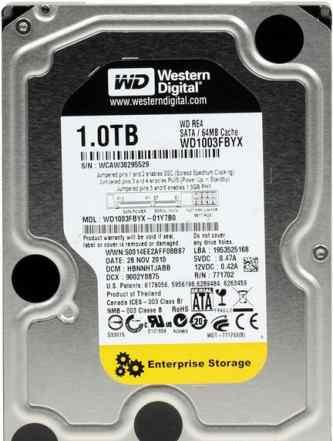 Жесткий диск SATA 1Tb WD RE (WD1003fbyz) новый