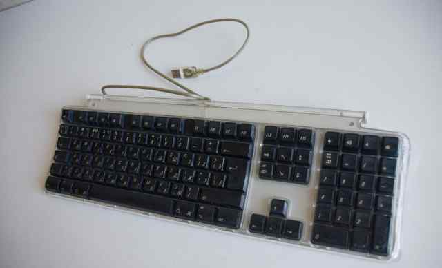 Клавиатура для Mac пластиковая прозрачная