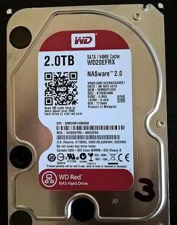 Жесткие диски WD RED 2Gb WD20efrx