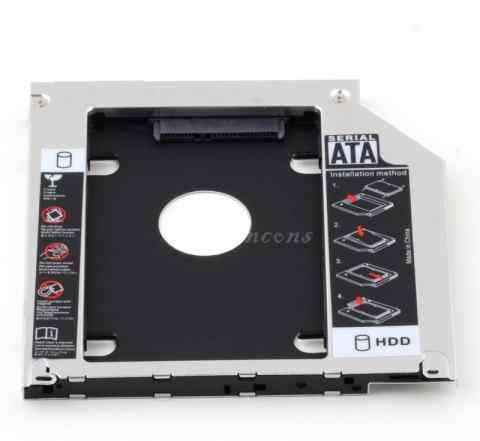 Адаптер 2 SATA 9.5 мм (Оптибей)