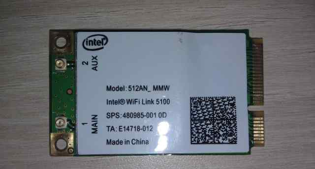 Модуль Intel Wifi Link 5100 512AN MMW 300Mbp