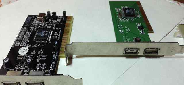 Контроллеры PCI USB (VT6202, OPTi FireLink 82C861)