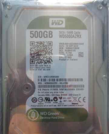 Жесткий диск Western Digital 500 Gb гигабайт