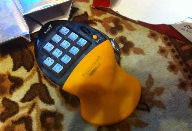 Genius ErgoMedia 500 Yellow-Black USB+ PS/2