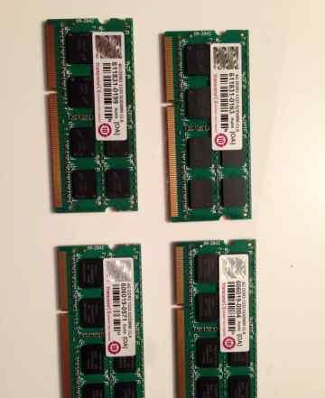 4 модуля памяти Transcend TS512MSK64V3N