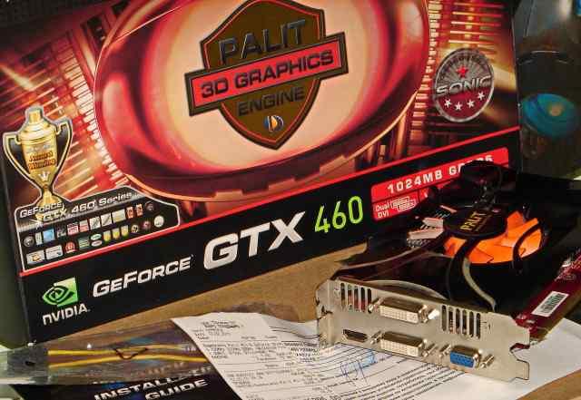 Palit GeForce GTX460 1024mb gddr5 sonic