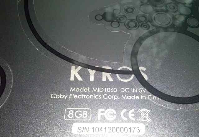 планшет Kyros 8 gb