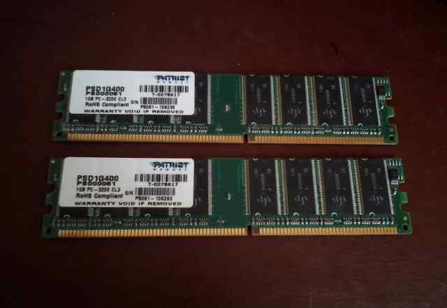 DDR 1GB 2 модуля
