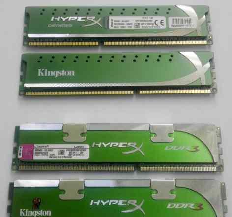 2x Kingston HyperX DDR3 2x2Gb 1600Mhz и 1800Mhz