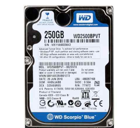 Western Digital WD2500bpvt SATA 2.5 250GB