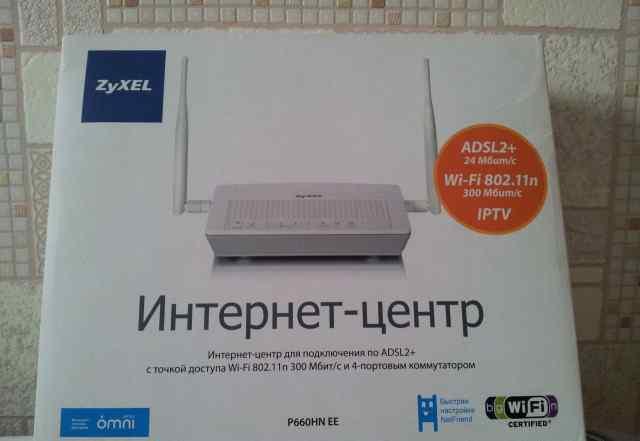 Роутер adsl/adsl2+ с WiFi Zyxel P660HN EE