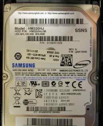 Жесткий диск Samsung Spinpoint MP4 320 Гб, 2.5