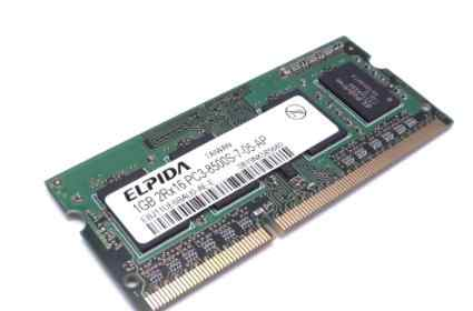 Elpida 1GB DDR3 SO-dimm PC3-8500S