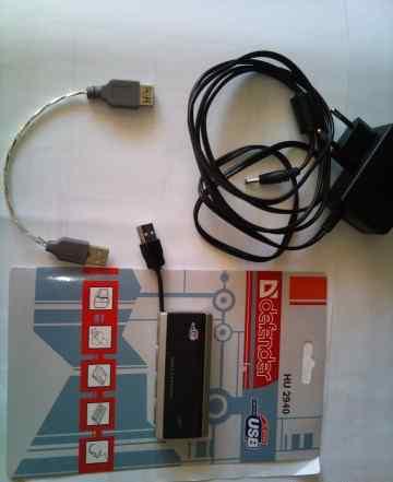 HUB USB2.0 Defender 4USB с блоком питания