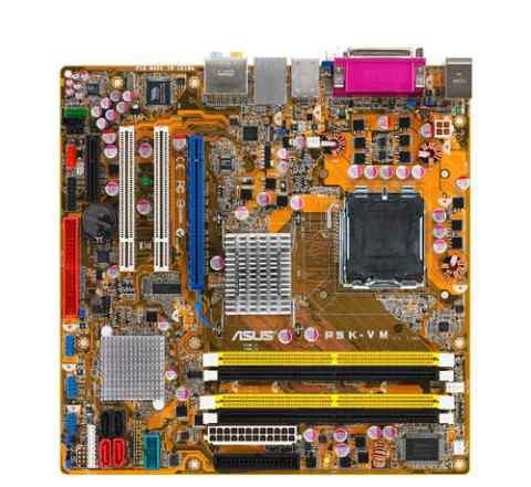 Socket 775, DDR2, asus P5K-VM, G33, 4dimm, mATX