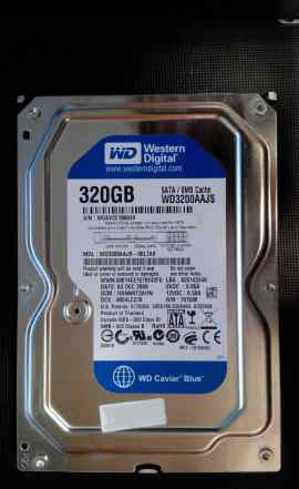 Жесткий диск HDD WD3200aajs 320гб Тест ок