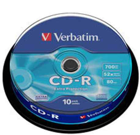 Диск CD-R Verbatim 700Mb 52x 80 min (10шт)