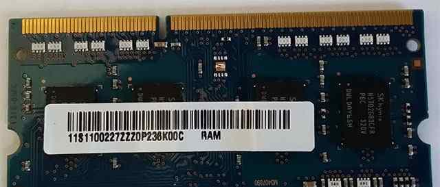 Hynix DDR3L 1600 SO-dimm 2Gb 12800S