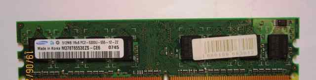 Озу DDR 2, Samsung, 512 mb, pc2-5300U