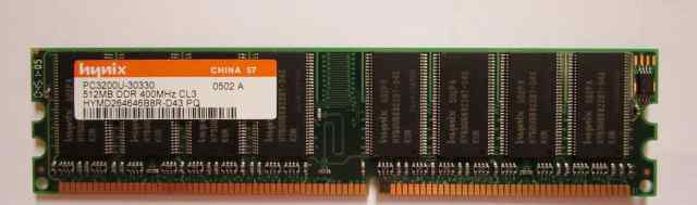 Озу Hynix, DDR PC3200U, 400 MHz, 512 mb