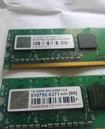 Оперативная память DDR2 800 MHz 2x1Gb