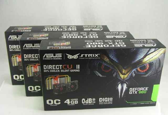 Asus NVidia GeForce GTX 980 все карты запечатаны