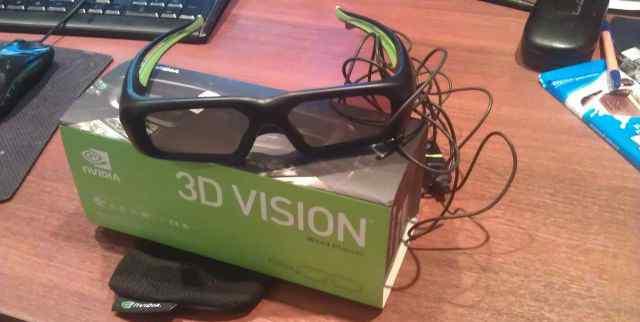 Очки 3d vision nvidia проводные USB