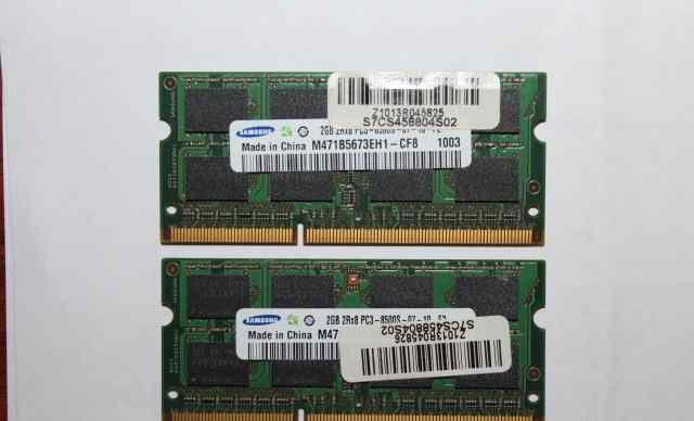 4Gb RAM Samsung 2 X 2GB 2Rx8 PC3-8500S-07-10-F2