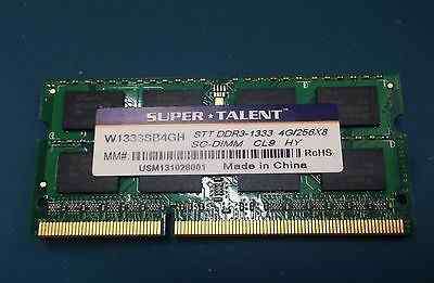 Super Talent DDR3-1333 sodimm 4GB (для ноутбука)