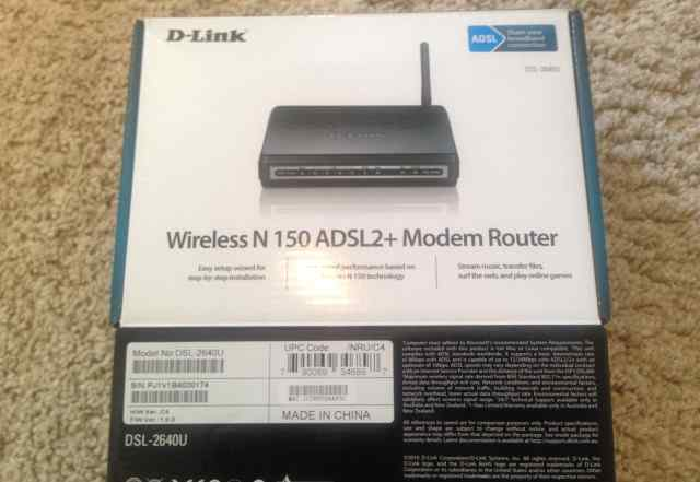Wi-Fi роутер D-Link DSL-2640