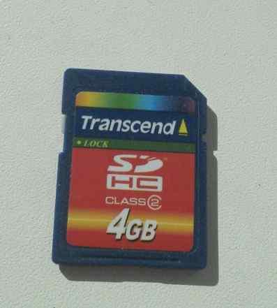 Флеш карта SD Transcend 4 Гб