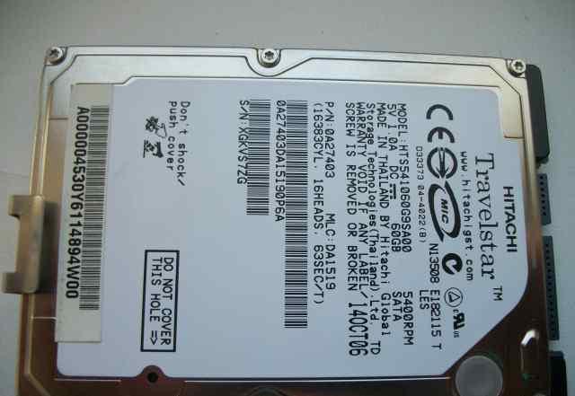 HDD 60Gb SATA 2.5 для бука