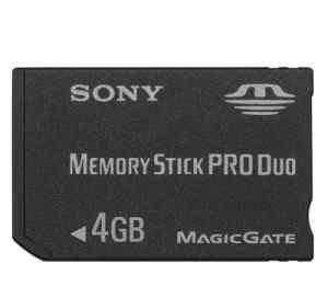 Sony Memory Stick PRO Duo Japan 2Gb и 4Gb