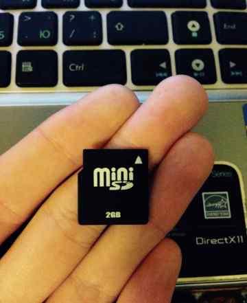 Карта памяти Mini SD 2 Gb