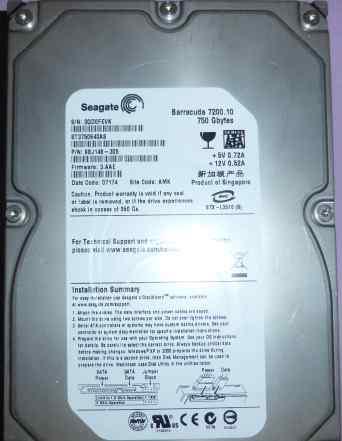 HDD 750GB Seagate Barracuda 7200 ST3750640AS бу