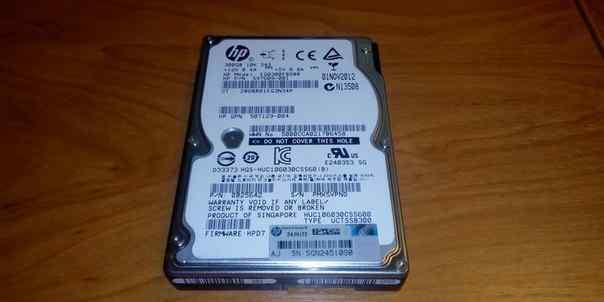Жесткий диск SAS 300 gb HP EG0300fbdbr