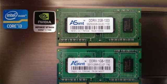 Модуль памяти для ноутбука DDR-3 1333 3Gb