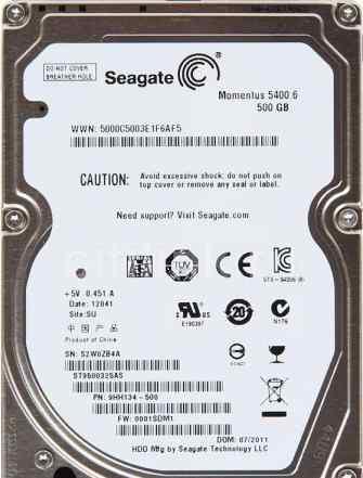 Жесткий диск Seagate 5400.6 ST9500325AS 500GB