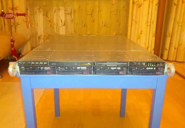 Сервер 1U Supermicro 6014H-T