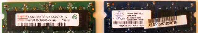 SO-dimm DDR2 512Мб, Память для ноутбука